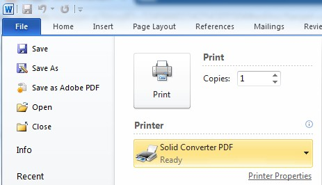 Solid Pdf Printer