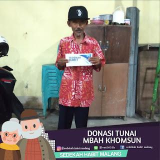 Mbah Khonsun : Donasi Tunai