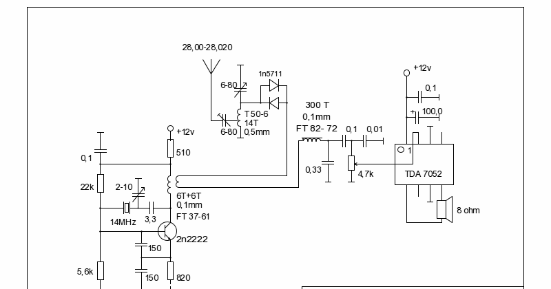 LY3LP laboratory: TDA 7052 28MHz receiver