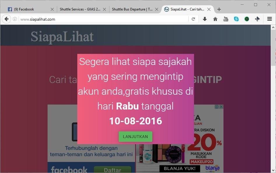 Cara Menghapus Spam Bot www.Siapalihat.com di Facebook