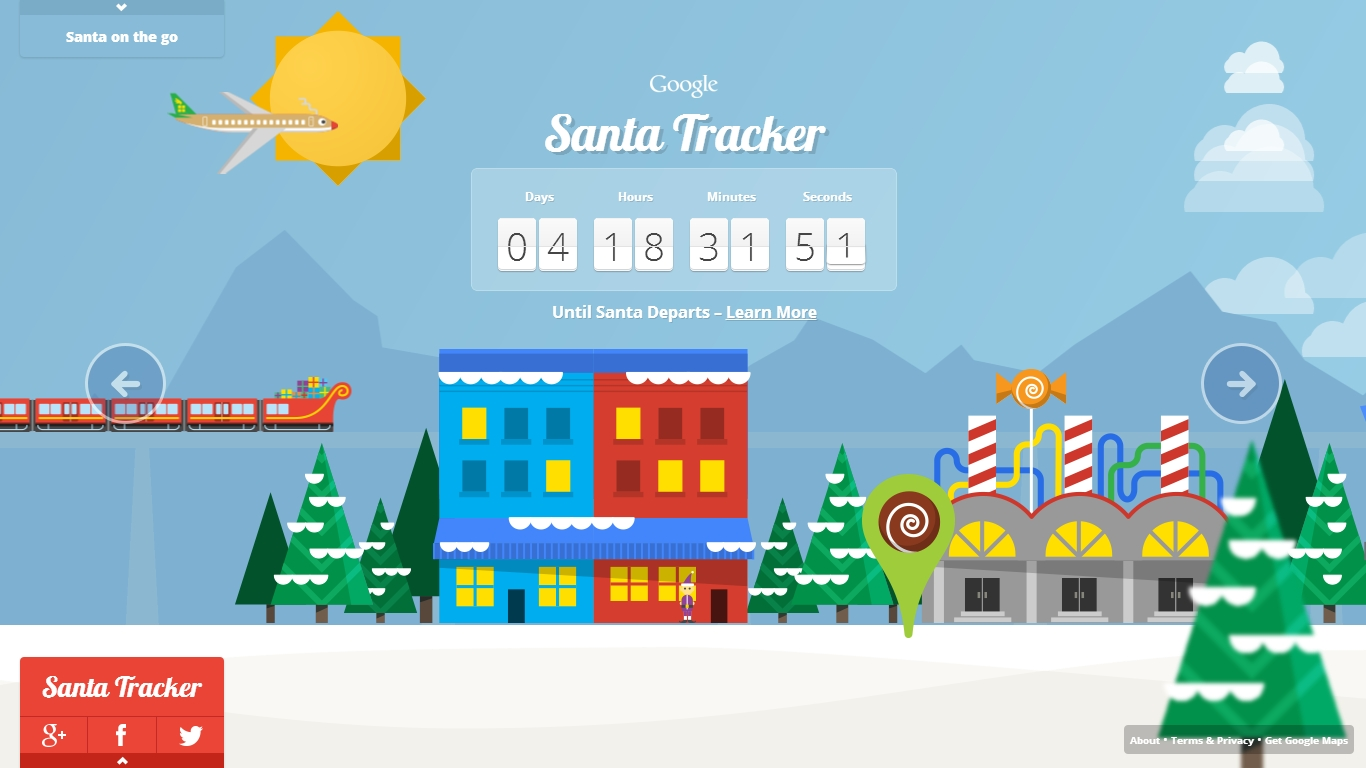 Santa Claus is coming to town so check in here to follow his route
