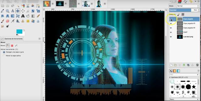 Manipulación y retoque digital en Gimp.