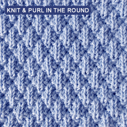 Seersucker - knitting in the round