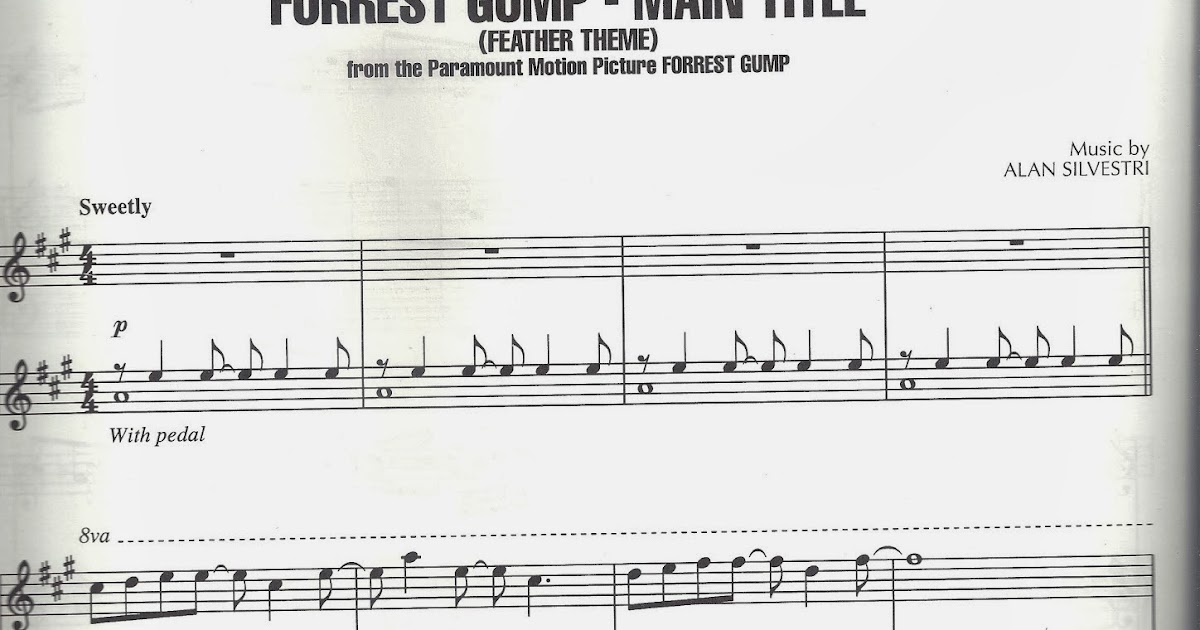 Fofaurs: Sheet music Forrest Gump Feather Theme