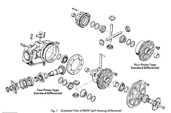 BMW 1975-76 Drive Axles Split Housing Repair Guide Auto