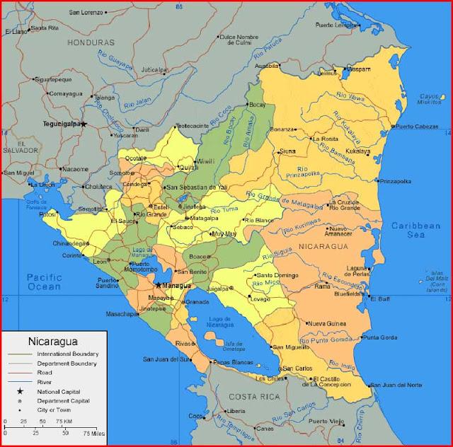Gambar Peta Nikaragua