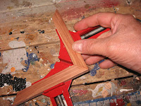 Clamping a corner in place