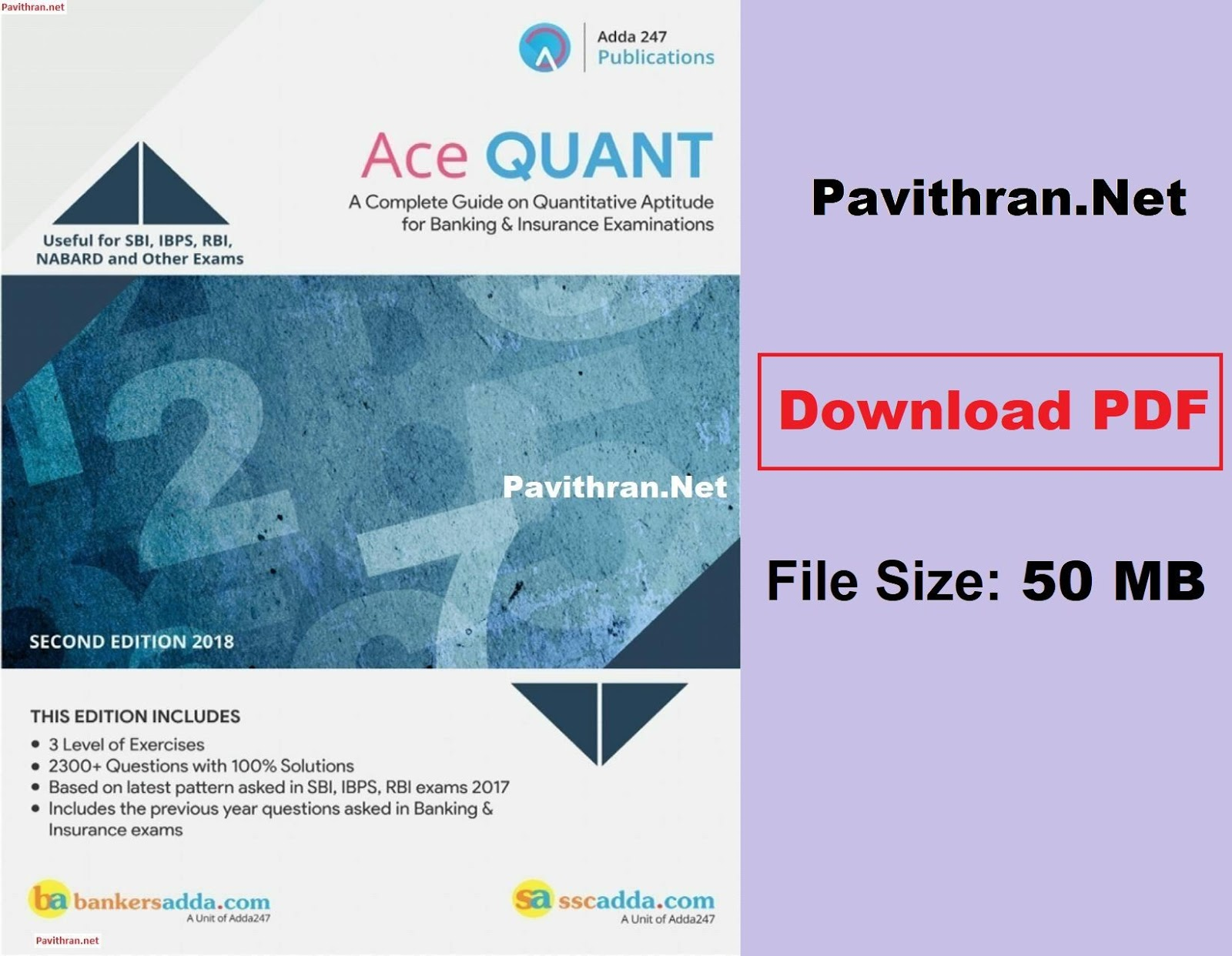 Adda247 Ace Quant Paid Aptitude Book Download PDF for All