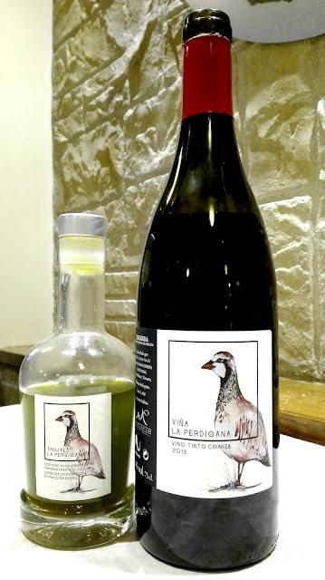Vino y AOVE elaborados por Martintxo para su propio consumo