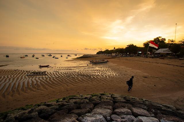 Tramonto Lungomare e spiaggia di Sanur, Bali