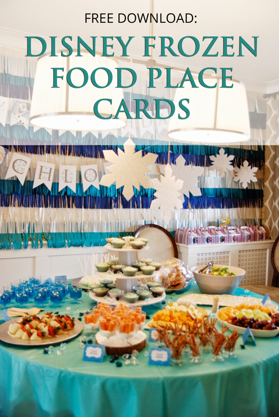 Frozen place cards, Frozen free printable, Frozen menu,  Frozen birthday party ideas