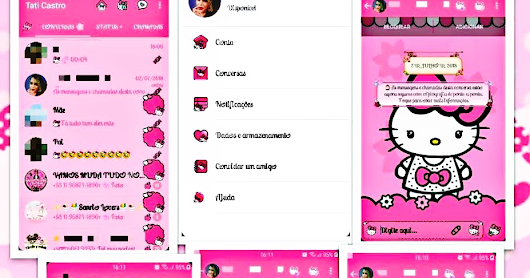 NS WhatsApp v6.40 Latest Update New Hello Kitty Girl's Mods Edition Version Created by Tati Download Now