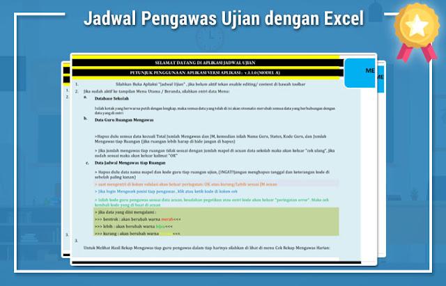 Jadwal Pengawas Ujian dengan Excel