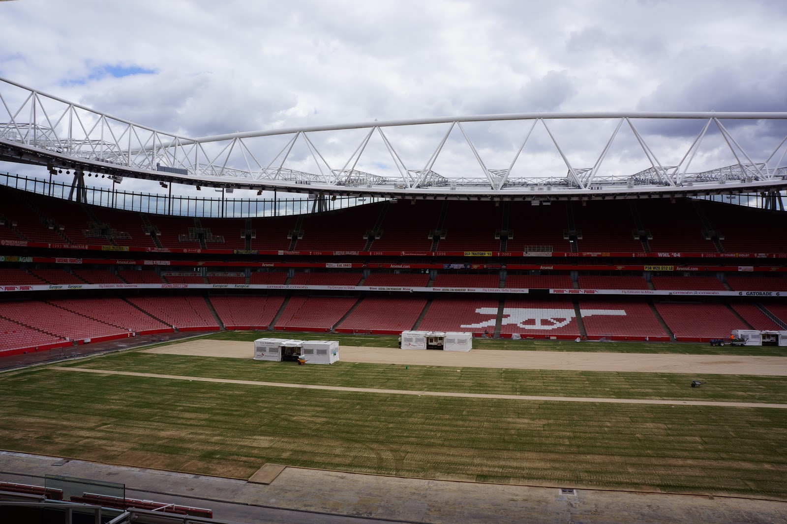 Arsenal Stadium pitch work