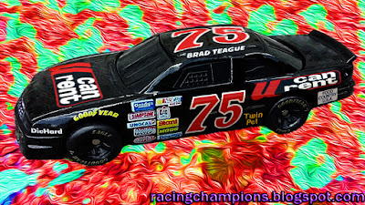 Brad Teague #75 Food Country U Can Rent Caleb Holman Eldora Racing Champions 1/64 NASCAR diecast blog BGN 1990 Goody's 300 Ernie Irvan Jimmy Spencer