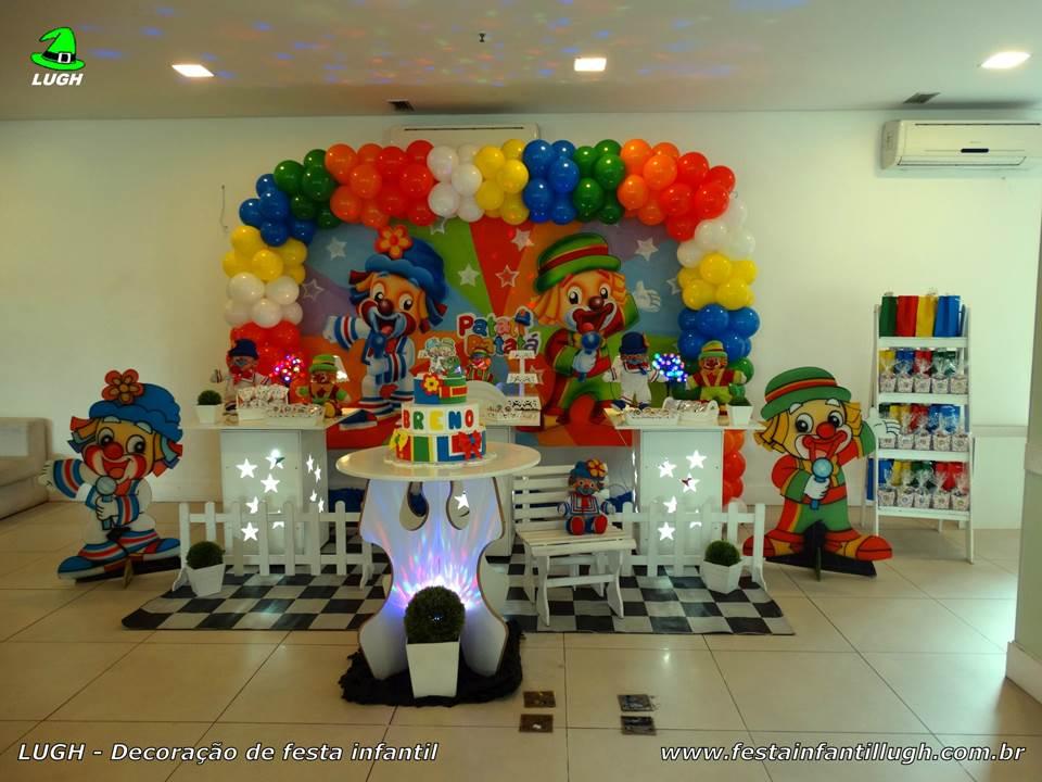 Decoração de mesa provençal infantil Patatí e Patatá para festa de aniversário