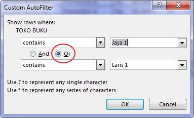 Autofilter Data Pada Excel 10