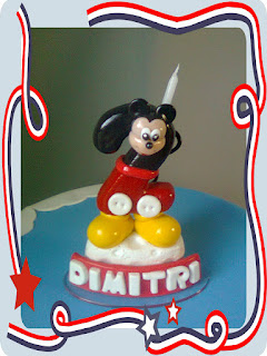 VELA DE BISCUIT MICKEY MOUSE