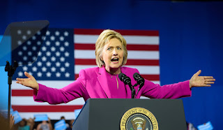 Democratic presidential nominee Hillary Clinton