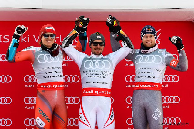 Marcel Hirscher Wins Last World Cup Giant Slalom