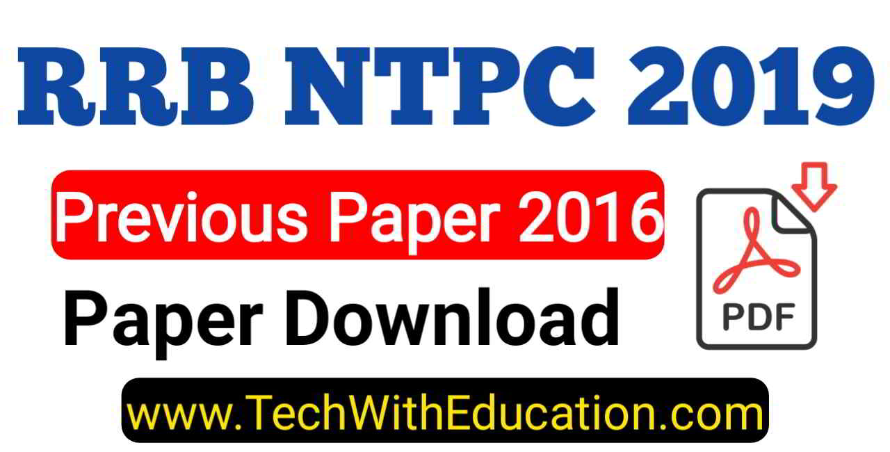 Pdf) year railway ( previous papers ntpc question rrb