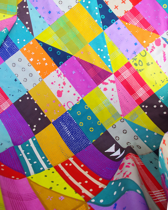Bright Like a Diamond Quilt - Handcrafted Fabric | © Red Pepper Quilts 2017