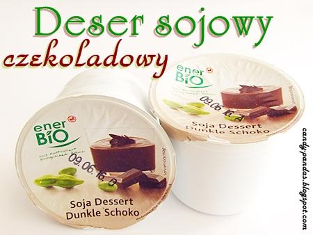 Deser sojowy o smaku gorzkiej czekolady - enerBio (Rossmann)