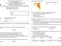 Soal Latihan UAS Kelas 1 s/d 6 Semester 1 Tahun Pelajaran 2016-2017