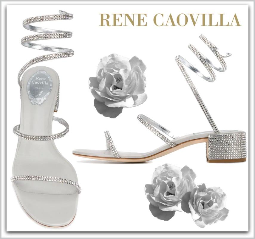 RENÉ CAOVILLA Snake embellished sandals