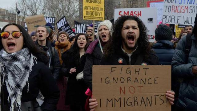 Masiva protesta en EEUU tras redadas para detener inmigrantes