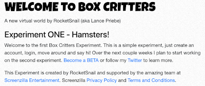 Box Critters Open for Beta Experiment one - Club Penguin Rsnail Rocketsnail