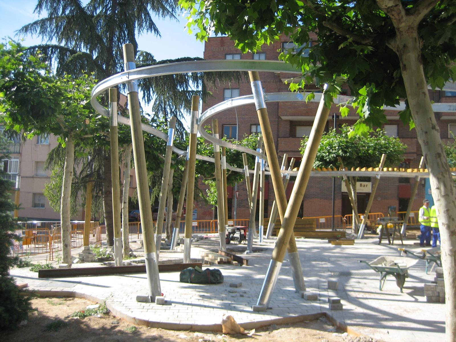Base Paisajismo Equipamiento Urbano Arcos Celosias Y Pergolas Iii - Pergolas-diseo
