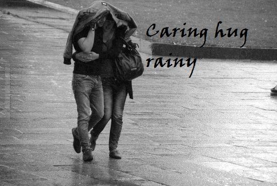 Hug Day Rain Whatsapp Status DP