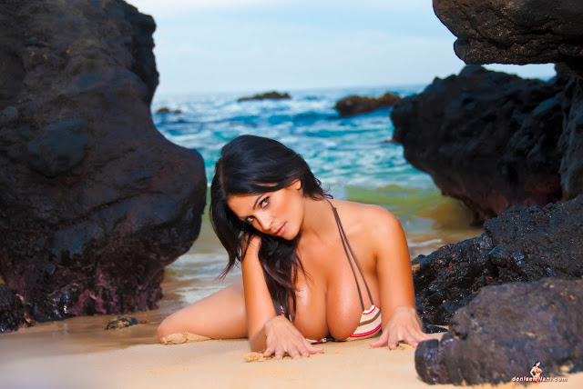Denise-Milani-Big-Rocks-hot-and-sexy-photoshoot-HD-image