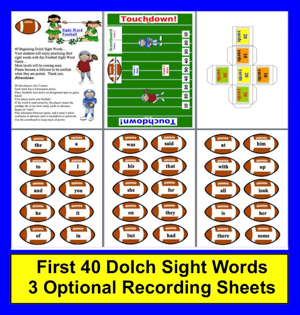 https://www.teacherspayteachers.com/Product/Football-Sight-Word-Literacy-Center-FREEBIE-147937