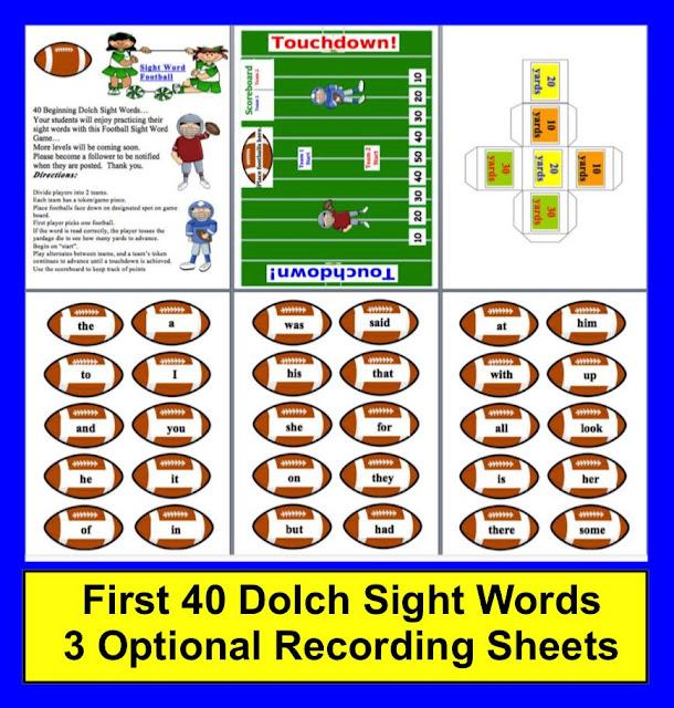 https://www.teacherspayteachers.com/Product/Football-Sight-Word-Literacy-Center-FREEBIE-147937