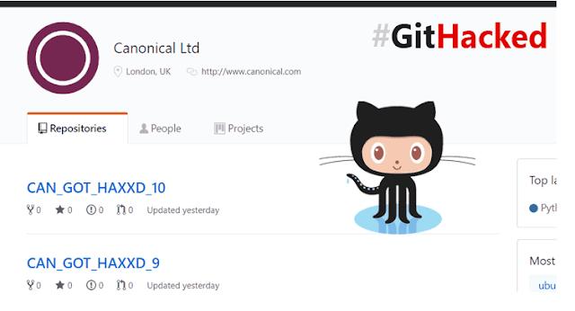 Tài khoản chính thức của Ubuntu Canonical trên Github bị hack - CyberSec365.org