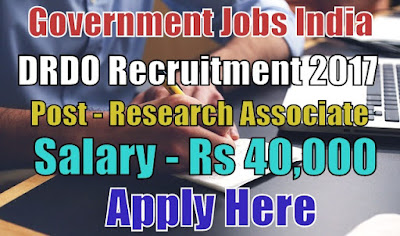 Defence Research and Development Organisation DRDO Recruitment 2017