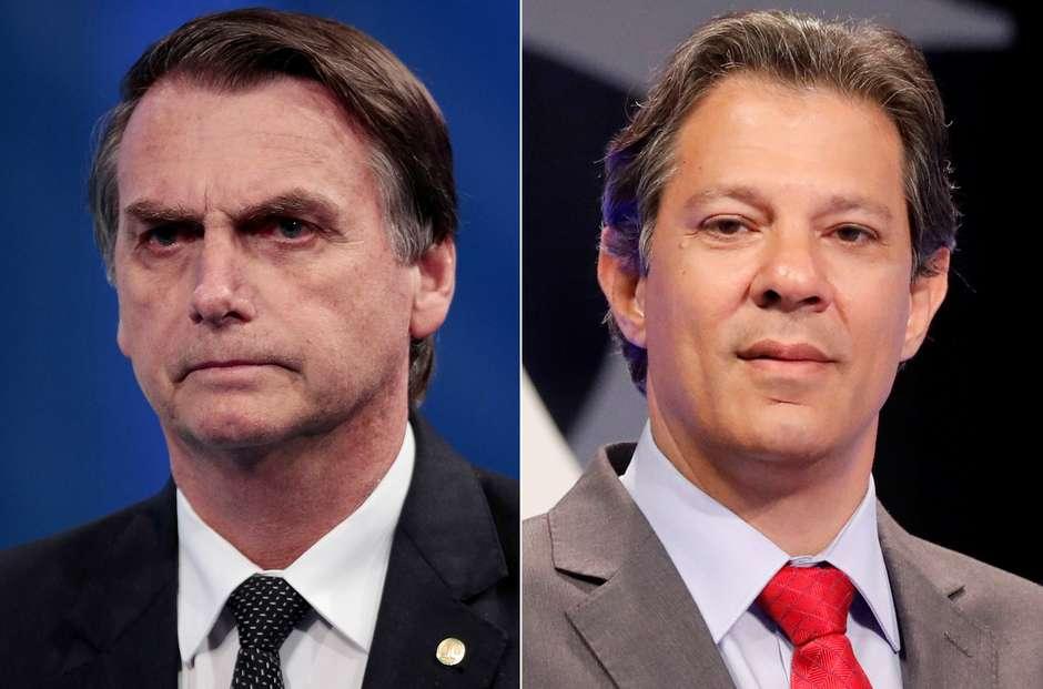 Boca de urna indica 2º turno entre Bolsonaro e Haddad