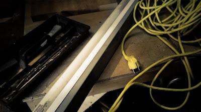 DIY werflamp oude TL lamp
