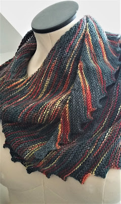 Knit a Hitchhiker shawlette with wool from Three Waters Farm