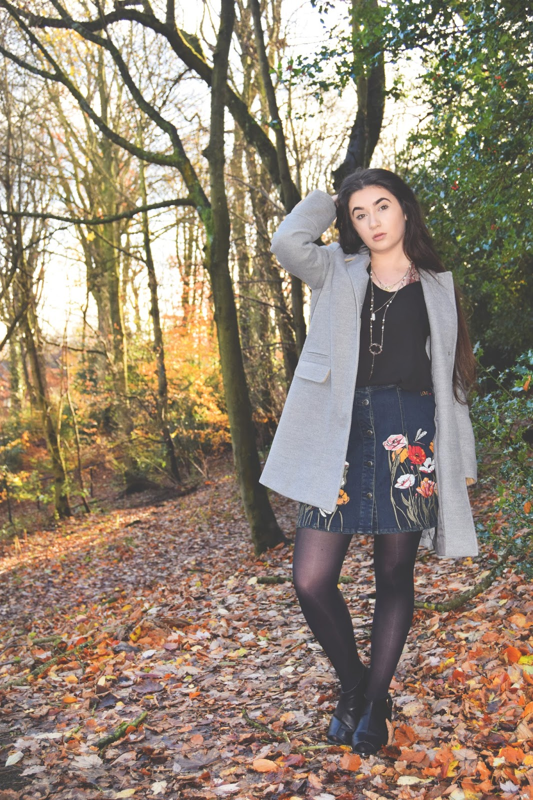 autumn embroidered outfit