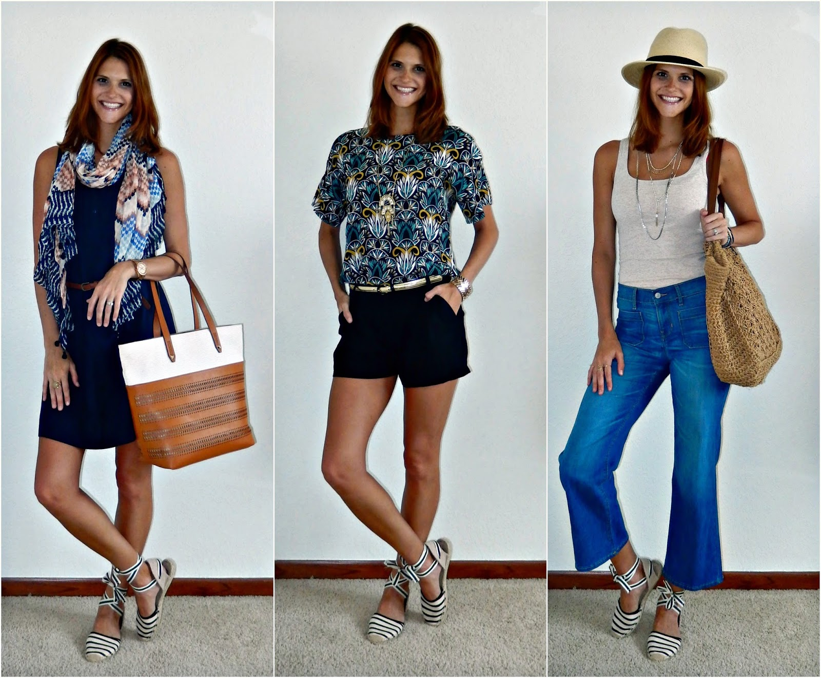 ed5c757852b ... outfits all utilizing my striped lace-up espadrilles that I recently  purchased from Soludos. Also