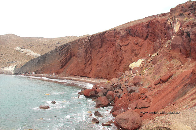 Things to do - Red Beach, Santorini