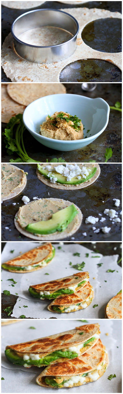 ini Avocado & Hummus Quesadilla Recipe