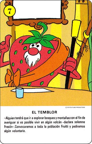 Baraja Los Fruittis Carta amarilla 7