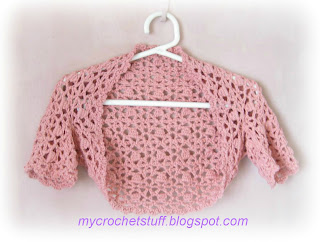 crochet child's shrug