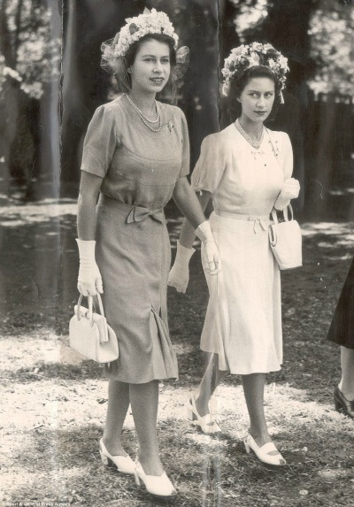 Princess Elizabeth and Princess Margaret in Cornelia James Gloves 1947