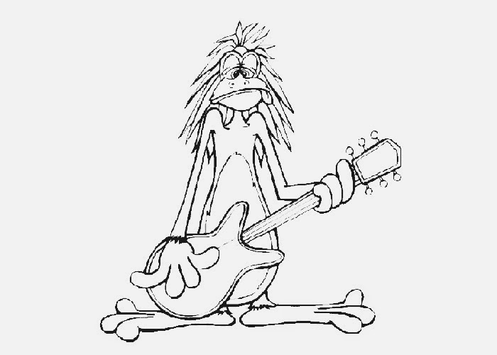 guitar coloring pages to print - guitar coloring pages to print free coloring pages