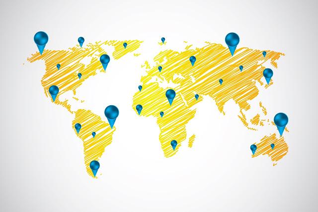 Geografische statistieken van bezoekers